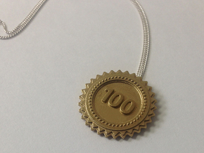 Top Score Pendant in Polished Brass