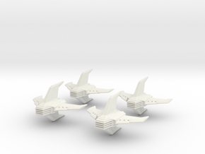 Shadow Rift Mechanized Empire Fighter Wing in White Strong & Flexible