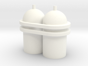 Spaceman Spiff Spaceship Tanks in White Strong & Flexible Polished