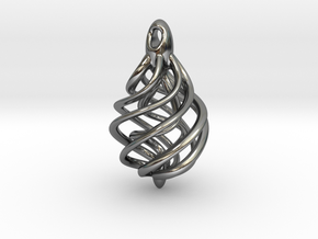 DNA Teardrop Pendant in Premium Silver