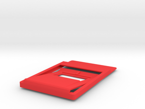 Slim minimalistic Wallet, money clip, bottleOpener in Red Strong & Flexible Polished