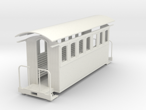 1:35 passenger car (7 window)  in White Strong & Flexible