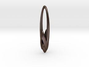 Arching Earring in Polished Bronze Steel