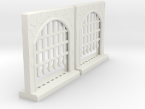 Portcullis - Large Double Sprue in White Strong & Flexible