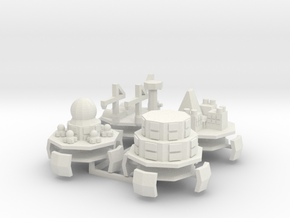 Alpini Air Fort (Science Repair Redoubt Depot) 6mm in White Strong & Flexible