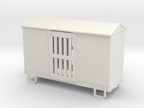55n9 13ft 4 wheeled ventilated box car - peaked ro in White Strong & Flexible