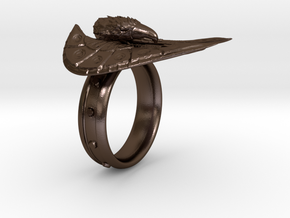 Eagle Ring max in Polished Bronze Steel