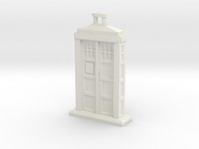 Police Box pendant in White Strong & Flexible