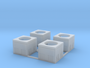 N-Scale Concrete Electrical Box (4 Pack) in Frosted Ultra Detail