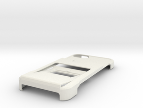 minimalistic iphone 5 case with wallet, clip and k in White Strong & Flexible