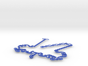 Floral Vine Necklace w/ Toggle Clasp in Nylon in Blue Strong & Flexible Polished