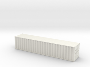 40ft Container Ribbed, (NZ120 / TT, 1:120) in White Strong & Flexible