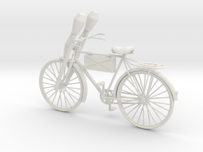 1:18 German WW2 Panzerfaust Bicycle in White Strong & Flexible