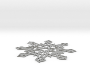 Islamic Snowflake Ornament in Metallic Plastic