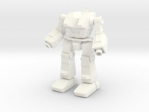 SkipJack Assault Mech: Mobile Infantry in White Strong & Flexible Polished
