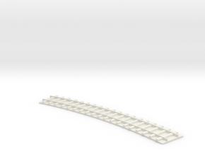 Curved Single Track / Gebogenes einfaches Gleis 1/ in White Strong & Flexible