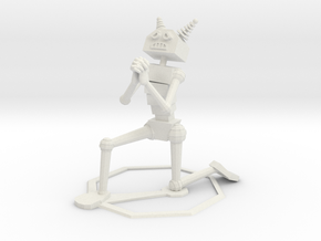 Begging Robot in White Strong & Flexible
