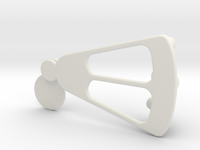 Peephole Door Keychain Holder in White Strong & Flexible