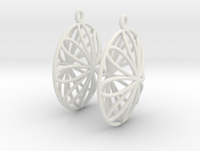 Double Viviani Earrings 2 in White Strong & Flexible