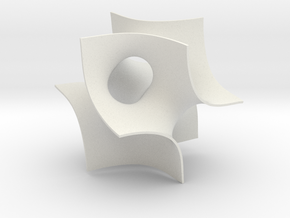 Batwing sculpture, 5 cm (2 inch) in White Strong & Flexible