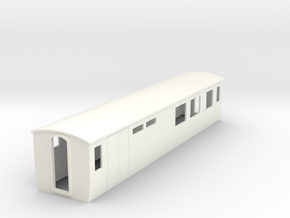 OO9 modern restaurant car  in White Strong & Flexible Polished