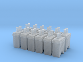 Chimney Stack 1 X 12 N Scale in Frosted Ultra Detail