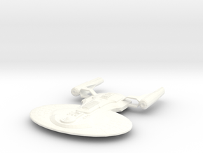 USS Truxton (Science and Transport Vessel) in White Strong & Flexible Polished