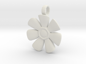 Flower Charm in White Strong & Flexible