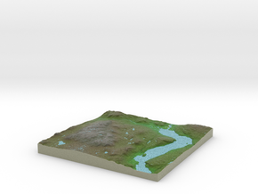Terrafab generated model Mon Apr 07 2014 22:13:29  in Full Color Sandstone