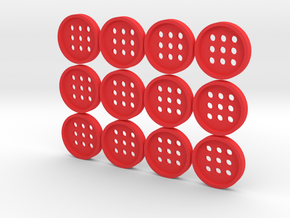 "5/8"" alphabet buttons (dozen) in Red Strong & Flexible Polished"