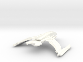 Turaka Class Romulan Transport in White Strong & Flexible Polished