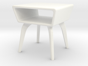 1:24 Moderne Angled Side Table in White Strong & Flexible Polished