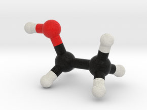 Alcohol / Ethanol Molecule Model, Large in Full Color Sandstone