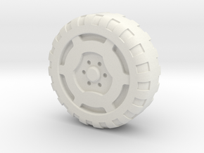 Rokenbok Snap-on Wheel in White Strong & Flexible