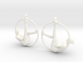 "earrings ""Hoop girl1"" in White Strong & Flexible Polished"