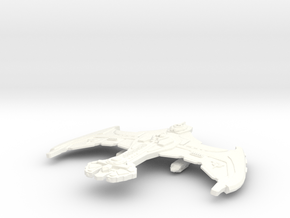 Neg'Var Klingon Flag Ship in White Strong & Flexible Polished