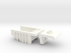 Kreon Addon - Dump Truck Bed in White Strong & Flexible Polished