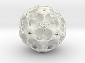IcosaBall Detail 17 in White Strong & Flexible