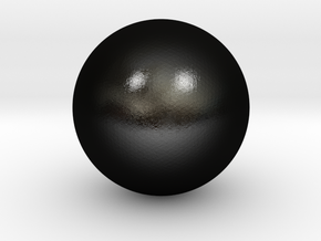 Sphere in Matte Black Steel