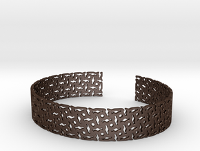 Khandi Bangle B in Matte Bronze Steel