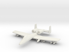 1/285 Scale (6mm) A-10 Warthog  in White Strong & Flexible