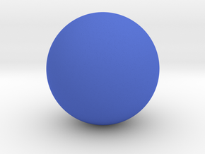 Sphere in Blue Strong & Flexible Polished