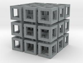 Cubo in Polished Metallic Plastic