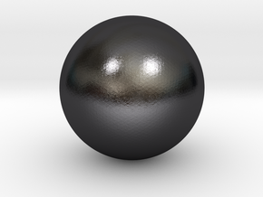 Sphere in Polished Grey Steel
