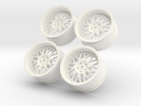 1/10 Touring Car Work Wheels VSXX VS-XX in White Strong & Flexible Polished