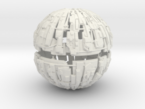 600m Cyborg Sphere 1/9000 Scale in White Strong & Flexible