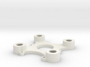 DJI Zenmuse H3-3D Mod (20mm nach vorne) Top Plate in White Strong & Flexible