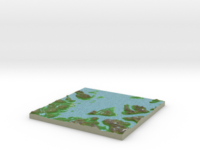Terrafab generated model Tue May 27 2014 01:35:45  in Full Color Sandstone