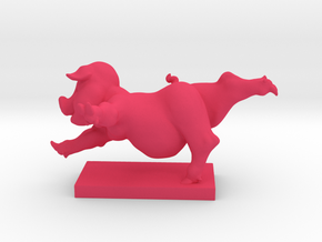 Pig Arabesque 50 mm in Pink Strong & Flexible Polished