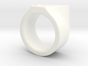 Dr Evil Ring Size 11 in White Strong & Flexible Polished